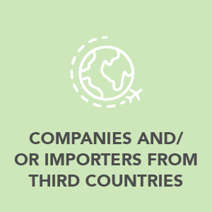 Companies importers from third countries